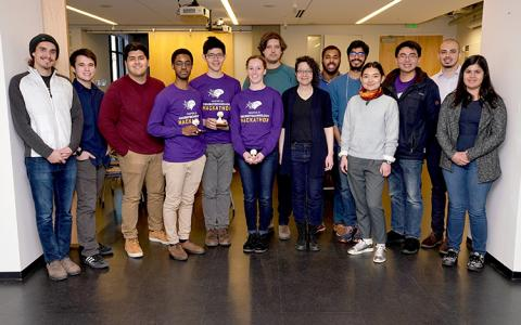 The 2019 Hackathon participants posed for a group photo after the event.