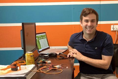 Benjamin Hart at his desk