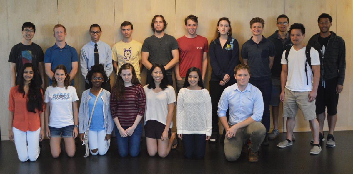 2016 CSNE REU students
