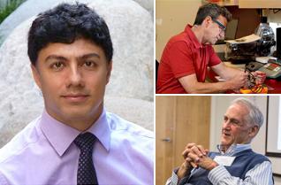Headshots of Amir Alimohammad, Steve Perlmutter and Eberhard Fetz