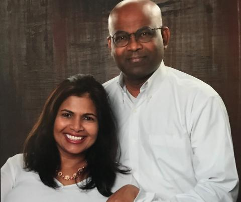 A photo of Joseph and Anusha Fernando