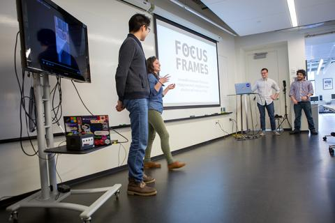 Team Focus Frames explains how their device detects engagement levels and strengthens attention.