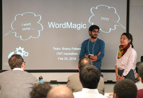 Members of team WordMagic focused on addressing communications problems that arise after a stroke, which impact 25 to 40 percent of stroke survivors.