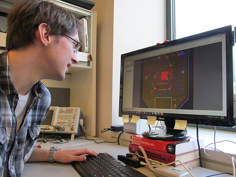 Jeffrey Herron at work in the UW BioRobotics Lab